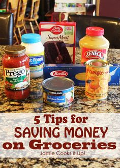 Tips for saving money on groceries, from Jamie Cooks It Up!
