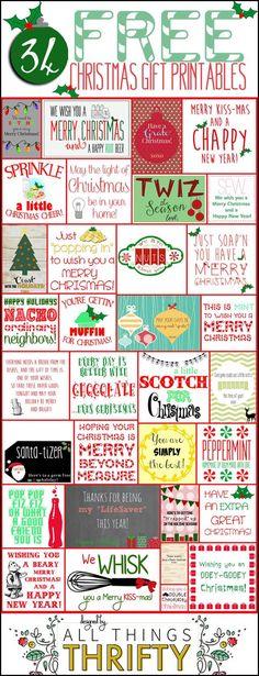 FREE PRINTABLES FOR CHRISTMAS GIFTS