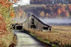 a barn in autumn. breathtaking!