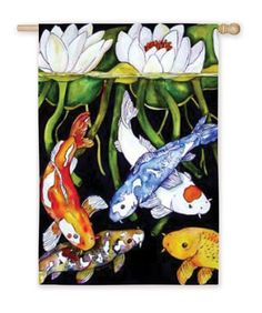 Windchimes and garden flags on pinterest garden flags for Koi fish wind chime