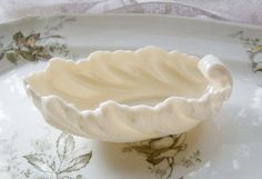 Vintage Cream Lenox Acanthus Leaf Candy Dish by Alyssabeths, $16.99