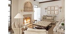 coffee tables, rachel halvorson, living rooms, hidden tv, fireplace mantles