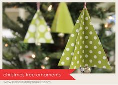 paper Christmas tree ornaments