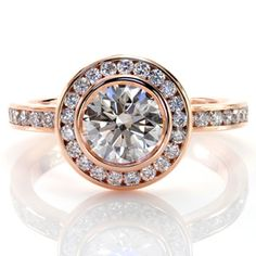 Design 2310 from Knox Jewelers  #halo #rosegold