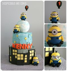 Despicable Me Cake by Kat's Cakes, via Flickr