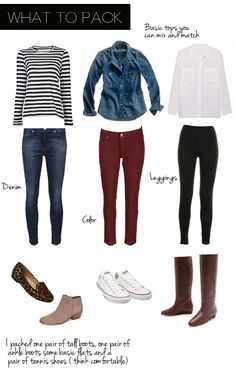 Outfits for Europe. What you'll want to pack.