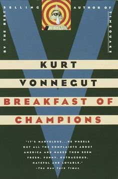 Kurt Vonnegut is one of my go to authors. If I'm looking for a book and nothing is grabbing me I go to Vonnegut and I'm never disappointed. In Breakfast of Champions, one of Kurt Vonnegut's  most beloved characters, the aging writer Kilgore Trout, finds to his horror that a Midwest car dealer is taking his fiction as truth. What follows is murderously funny satire, as Vonnegut looks at war, sex, racism, success, politics, and pollution in America and reminds us how to see the truth.