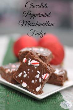 Peppermint Marshmallow Fudge holiday, marshmallow fudg, peppermint marshmallow, sweet, christmas recipes, fudge recipes, christmas treats, marshmallows, dessert