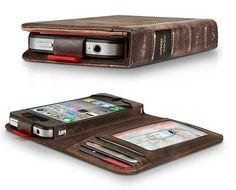 Bookbook phone holder, iphone cases, iphone 4s, gift, father day, phone covers, book covers, wallet, old books