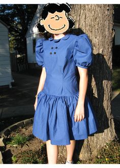 Lucy Van Pelt from the cartoon strip Peanuts.  This dress is available in misses sizes.  By Irishandmore.etsy.com