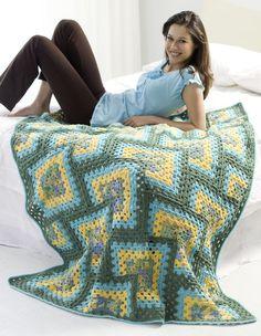 Crochet Granny Afghan | FaveCrafts.com