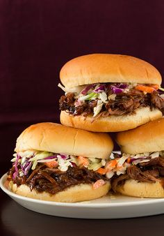 Slow Cooker Balsamic and Honey Pulled Pork Sandwiches