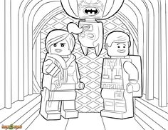 The LEGO Movie Coloring Page, LEGO Wyldstyle, Emmet & Batman Printable Color Sheet