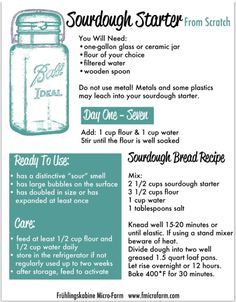 Sourdough starter from scratch printable
