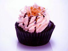 Dark Chocolate Samoa Cupcakes from FoodNetwork.com  Recipe courtesy Tiffany Magness and Kerstin Bellah Show: Cupcake Wars Episode: Fran Drescher's Cancer Schmancer