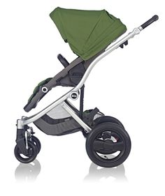 Britax Affinity Stroller in Cactus Green with Silver Chassis #baby #custom