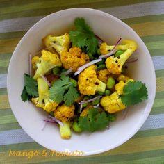 Mango & Tomato: Cauliflower and Edamame with Indian Spices