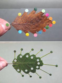 Leaf sculptures.