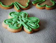 Clover Cookies for St. Patrick's Day