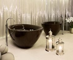 Modern Wooden Bathtub