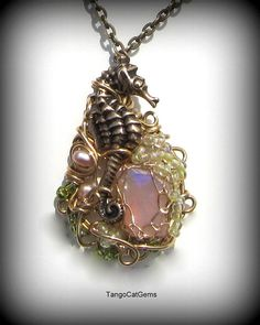 Opal Seahorse   Necklace by tangocatgems1, via Flickr