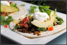 Lentil Tacos #MeatlessMonday #tacos