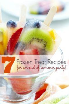 themed birthday parties, frozen treat, summer parties, treat recip, laser beam, parti idea, healthy treats