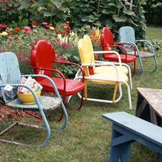 Adorable Vintage metal garden chairs