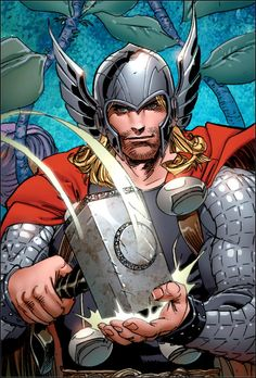 Thor #superhero #hero #art #illustration #dark #comic #book #secret #identity