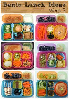 Bento Lunch Ideas - a whole week's worth -Skye