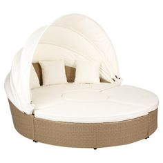 Round Daybed, Rattan #rattan #outdoor #furniture #oka daybed #ibiza