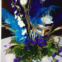 Masquerade themed centerpieces