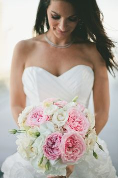 We love pink peonies. Photography: Todd Good Photography - www.toddgood.com, Floral Design: Ever After Floral Design - www.everafterfloraldesign.com  Read More: http://www.stylemepretty.com/2014/07/15/glamorous-miami-wedding/ #wedding #bouquet