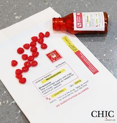 DIY project: Prescription Of Love with a free template at www.chiclifestyle.ca