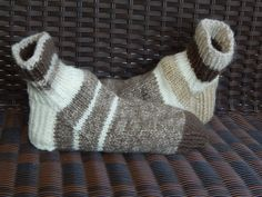 Men Mismatched Sock Slippers in shoe size 9 to 10 by Head2URToes, $20.00