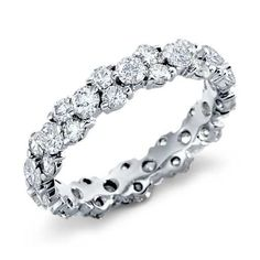 Garland Diamond Eternity Ring in Platinum | Something #BlueNile