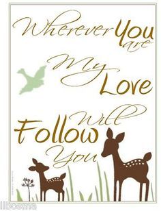 like this quote for wall in baby room