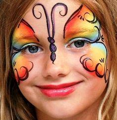 butterfli, paint ideas, animal faces, face paintings, body paintings, paint designs, facepaint, kid parties, kid birthday parties