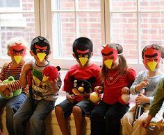 ideas cumpleaños angry birds caretas