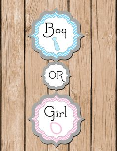 Gender Reveal  Door Hanger