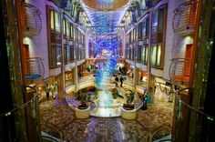 Royal Promenade on Adventure of the Seas.