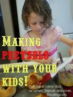 Making Pretzels with kids is a fun way to spend time, work on motor skills and have a tasty treat when you're done!