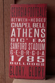 University of Georgia Distressed Decorative Sign