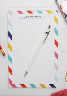Custom Personalized Neapolitan Stripe by PencilShavingsStudio