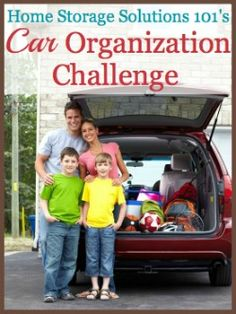 Step by step instructions for car organization so you don't have to be embarrassed to drive anyone around. Includes special tips for organizing your car with kids too! {part of 52 Week Organized Home Challenge on Home Storage Solutions 101}