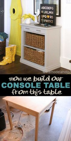 Free DIY Furniture Project Plan: Learn How to Build a Storage Console Table from an Existing Card Table
