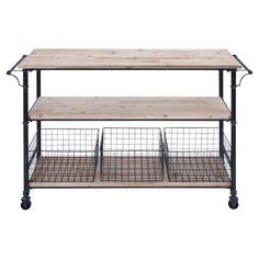 decor, metal serv, sturdi classic, metals, wood shelves, kitchen, wire baskets, serv cart, furnitur