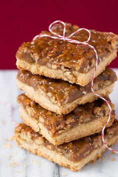 Pecan Pie Bars by Cooking Classy