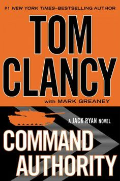 Command authority by Tom Clancy.  Click the cover image to check out or request the suspense and thrillers kindle.