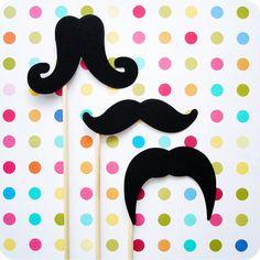 Mustache on a Stick Trio by SweetKaity